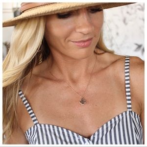 Dainty Gold-Silver Clover Necklace